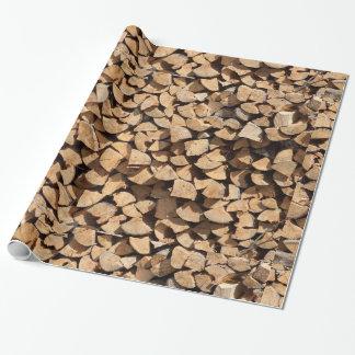 Pile de bois papier cadeau