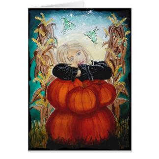 """Pile de Punkin"" - Halloween, citrouilles, Carte"