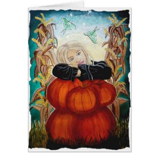 Pile de Punkin - Halloween, citrouilles, sorcière Carte
