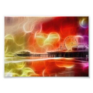 Pilier abstrait coloré de Santa Monica Photographe
