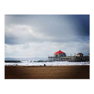 Pilier de Huntington Beach, CA Carte Postale