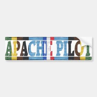 Pilote d'Apache, forces armées Exped. Autocollant