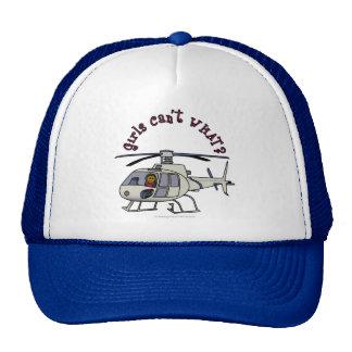 Pilote foncé d'hélicoptère casquette trucker