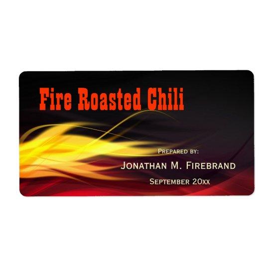 Piment de flammes ou étiquette balayé de magasin