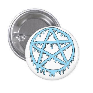 Pin de pentagramme de substance gluante - bleu badge rond 2,50 cm