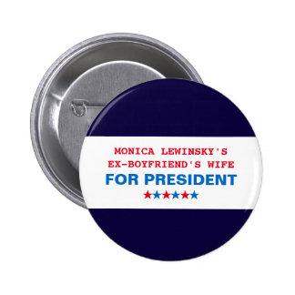 Pin drôle de bouton de Hillary Clinton Monica Badge Rond 5 Cm