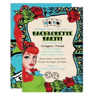 Pin- fille vintage, invitations de Roche-UN-Billy