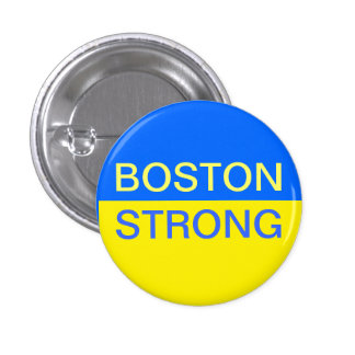 Pin fort de Boston Badge Rond 2,50 Cm