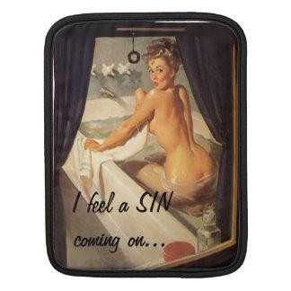 Pin sale vilain vintage vers le haut de fille poches pour iPad