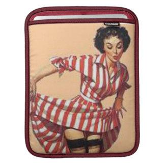 Pin vintage de Striper de sucrerie vers le haut de Poches iPad