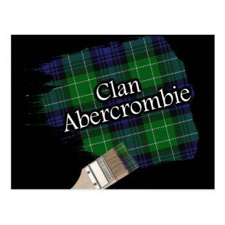Pinceau écossais de tartan d'Abercrombie de clan Carte Postale