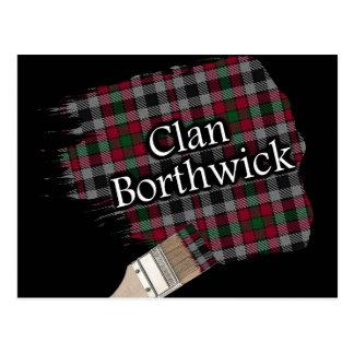 Pinceau écossais de tartan de Borthwick de clan Carte Postale