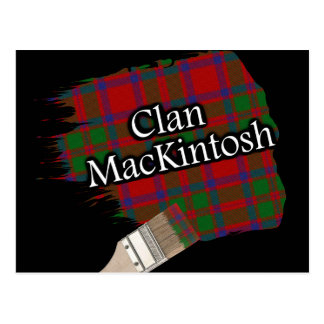 Pinceau écossais de tartan de Mackintosh de clan Carte Postale