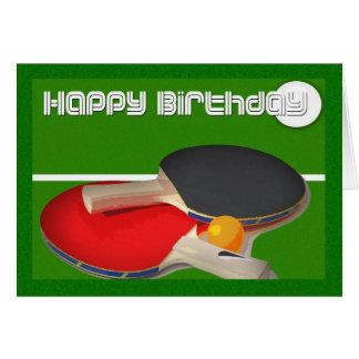 Ping-pong de ping-pong de sport d'anniversaire carte