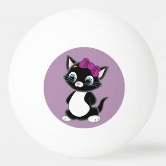 Ping-pong mignon de chaton balle de ping pong