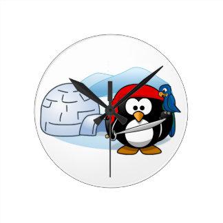 Pingouin antarctique de Pitate Horloge Ronde