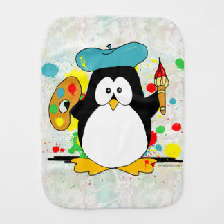 Pingouin artistique linge de bébé