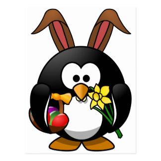 Pingouin de Pâques Carte Postale