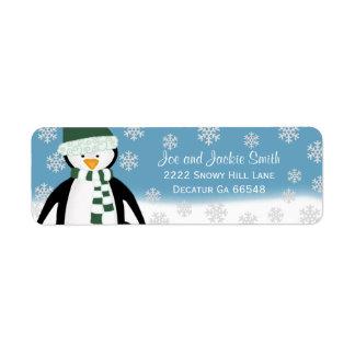 Pingouin : Étiquettes de adresse d'hiver