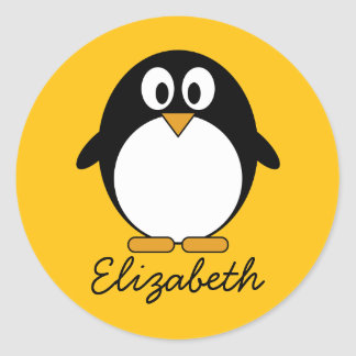 Pingouin mignon et moderne de bande dessinée autocollants