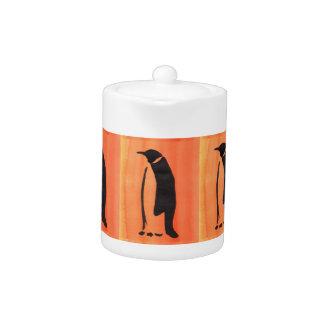 Pingouin sur l'orange