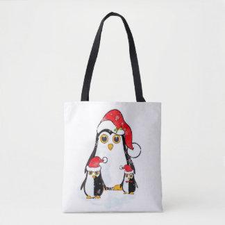 Pingouins de Noël de sac fourre-tout
