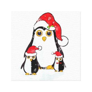 Pingouins de Noël d'impression de toile