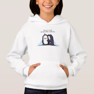 Pingouins d'un Lottle - le sweat - shirt à capuche