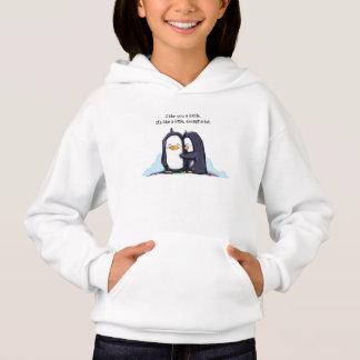 Pinguïnen een Lottle - Hoodie van het Meisje