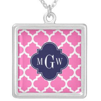 Pink 2 monogramme initial de la marine 3 blancs bijouterie fantaisie