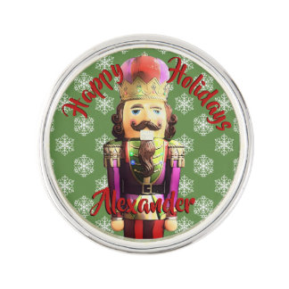 Pin's Casse-noix de Noël avec des flocons de neige