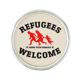 Pin's L'accueil de réfugiés apportent à vos familles le