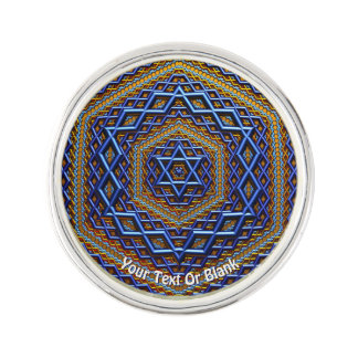 Pin's Magen David métallique fleuri