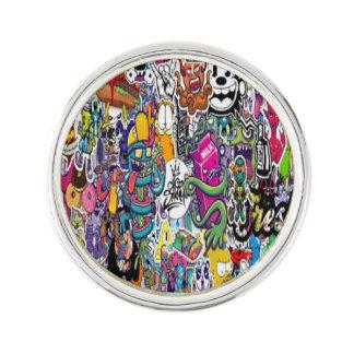 Pin's Pin rond baignés en argent de TodixD