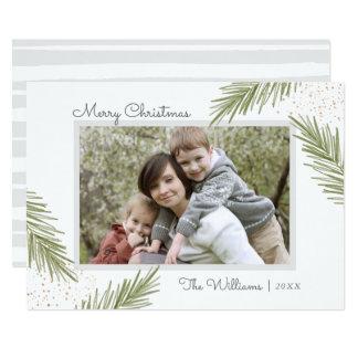 Pins simples, carte photo de Noël