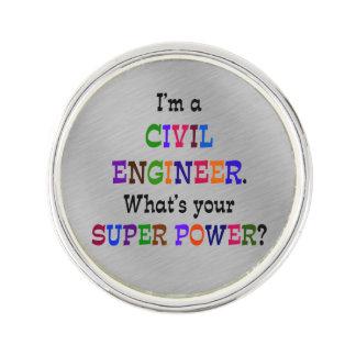 Pin's Super pouvoir d'ingénieur civil
