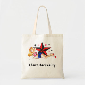 Pinup - Rockabilly Girl Tote Bag