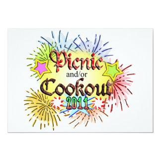 Pique-nique et/ou barbecue 2011 carton d'invitation  12,7 cm x 17,78 cm