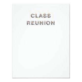PIQUEZ la 10ème Réunion de classe Carton D'invitation 10,79 Cm X 13,97 Cm
