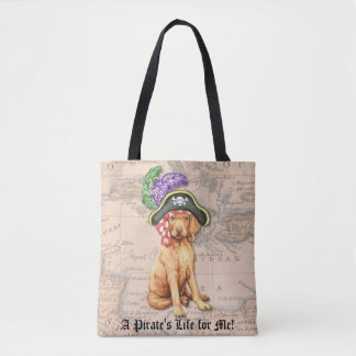 Pirate de Vizsla Tote Bag