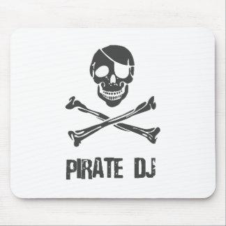 Pirate DJ - Voleur de musique de jockey de disque Tapis De Souris