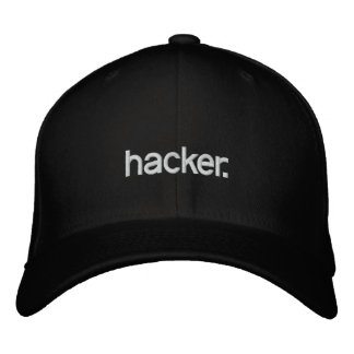 Pirate informatique de chapeau noir casquettes brodées