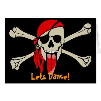 Pirate Laurent Drapeau avec la langue extra-longue Carte