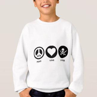 Pirates d'amour de paix sweatshirt