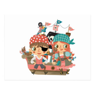 Pirates Girly Carte Postale
