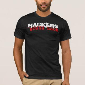 Pirates informatiques allant entailler - la t-shirt