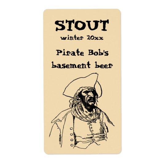 Pirates vintages, un croquis de Buccaneer par Étiquette D'expédition