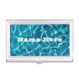 Piscine bleue fraîche personnalisée boîtier pour cartes de visite