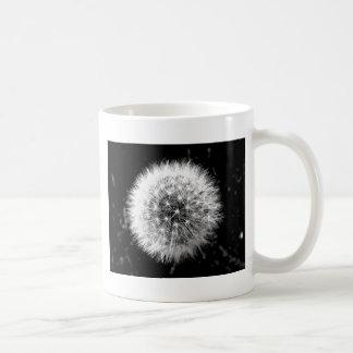 Pissenlit noir et blanc mug blanc
