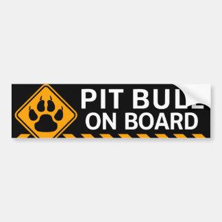 Pitbull à bord autocollant de voiture